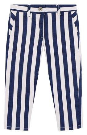 Хлопковые брюки в полоску | Фото №1