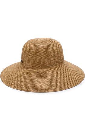 Шляпа Eric Javits темно-бежевого цвета | Фото №1