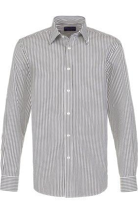 Мужская хлопковая сорочка с воротником кент RALPH LAUREN черно-белого цвета, арт. 790698735 | Фото 1