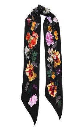 Шелковый шарф с принтом | Фото №1