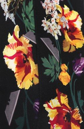Шелковый шарф с принтом Rockins черный | Фото №1