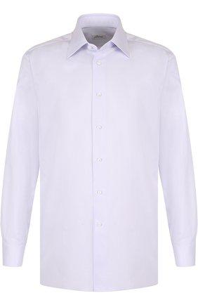 Мужская хлопковая сорочка с воротником кент BRIONI сиреневого цвета, арт. RCL98K/PZ003 | Фото 1