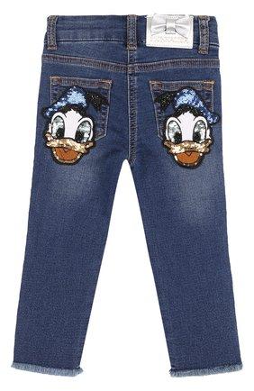 Зауженные джинсы с пайетками | Фото №2