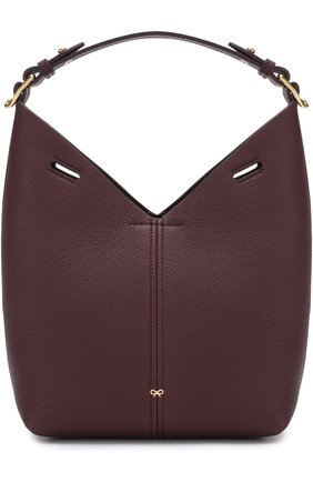 Сумка Mini Build a Bag Anya Hindmarch бордовая цвета | Фото №1