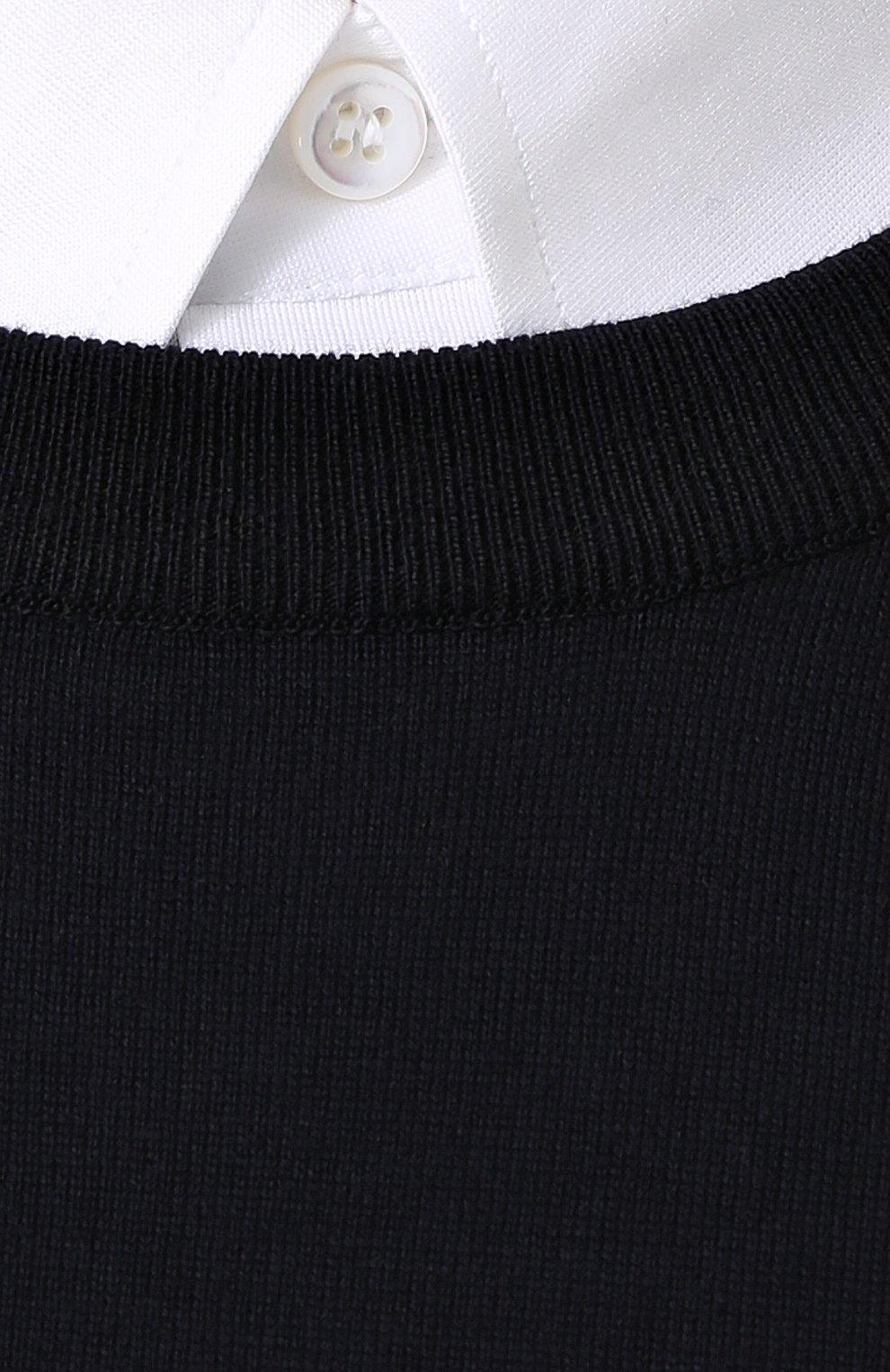 Джемпер тонкой вязки из смеси хлопка и кашемира | Фото №5