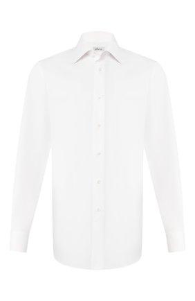 Мужская хлопковая сорочка BRIONI белого цвета, арт. RCL99C/PZ005   Фото 1 (Длина (для топов): Стандартные; Рукава: Длинные; Материал внешний: Хлопок; Статус проверки: Проверено; Случай: Формальный)