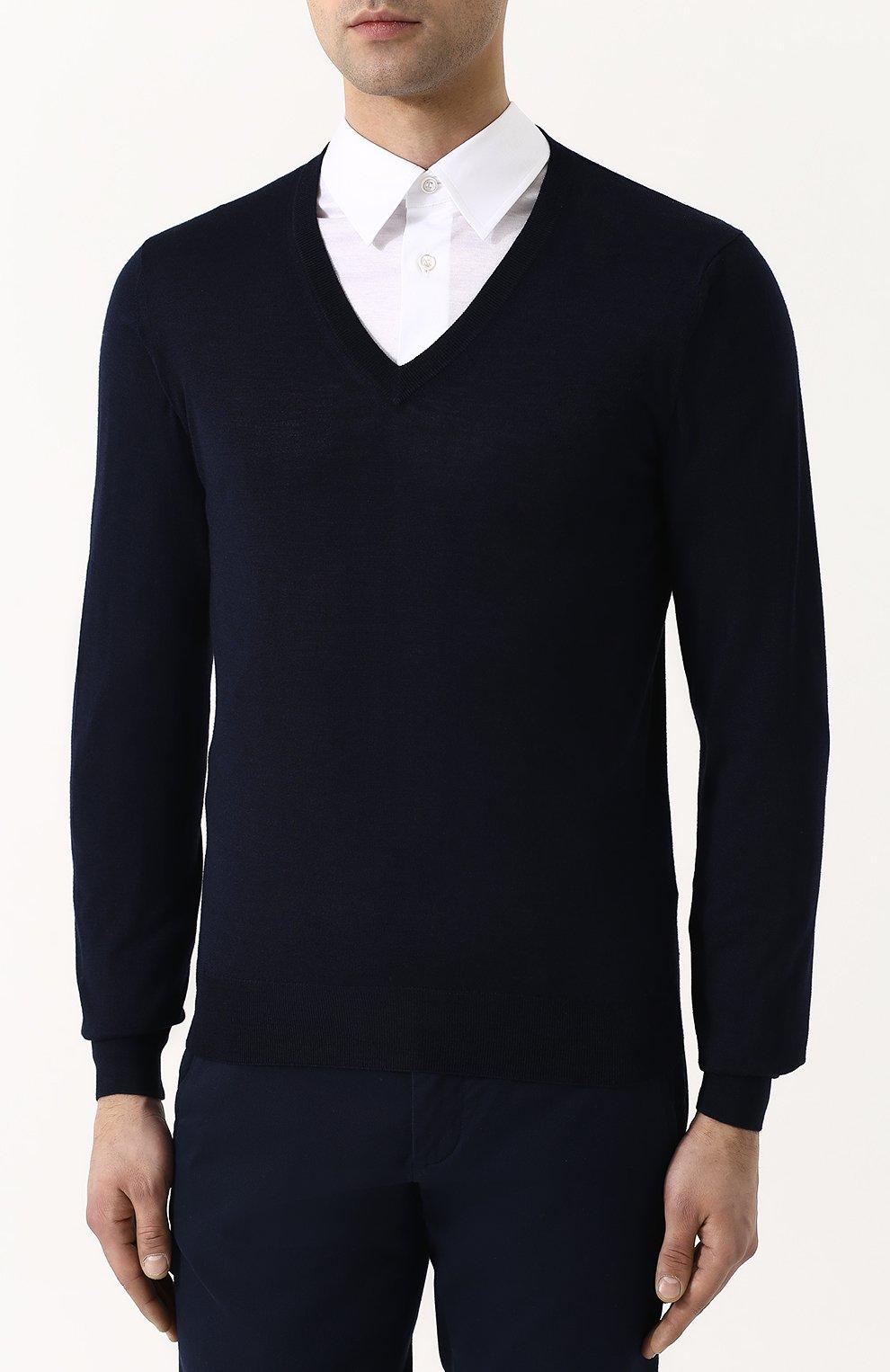Пуловер из смеси шерсти и кашемира с шелком | Фото №3