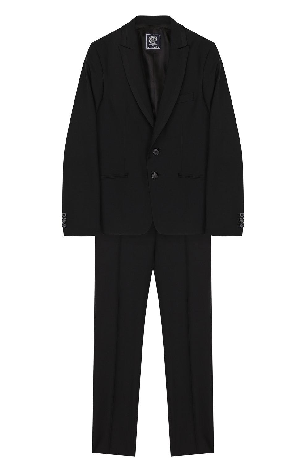 Шерстяной костюм-смокинг | Фото №1