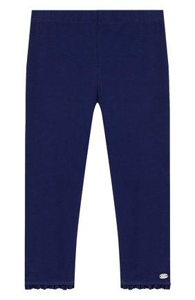 Детские хлопковые брюки с оборками TARTINE ET CHOCOLAT темно-синего цвета, арт. TL24001/1M-18M | Фото 1