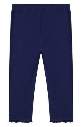Детские хлопковые брюки с оборками TARTINE ET CHOCOLAT темно-синего цвета, арт. TL24001/1M-18M | Фото 2