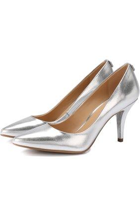 Туфли Flex из металлизированной кожи на шпильке | Фото №1