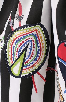 Хлопковая юбка с принтом и широким поясом | Фото №3