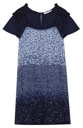 Комплект из платья с пайетками и топом | Фото №1