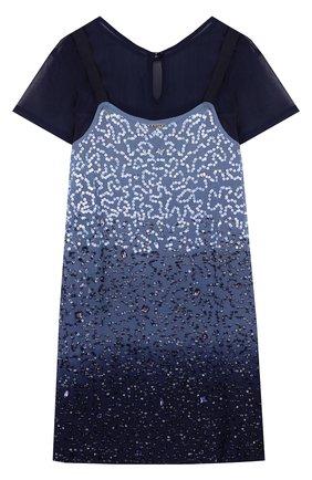 Комплект из платья с пайетками и топом | Фото №2