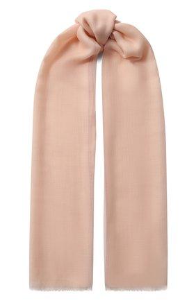 Мужские кашемировый шарф fil and fil LORO PIANA розового цвета, арт. FAG3858 | Фото 1