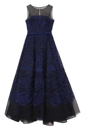 Приталенное платье-макси без рукавов   Фото №1