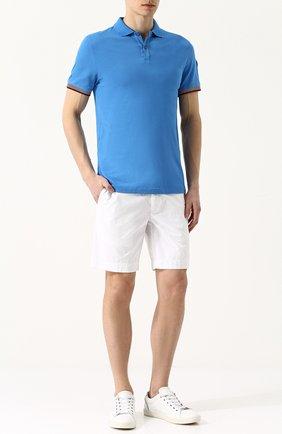 Хлопковое поло с короткими рукавами Colmar темно-синее | Фото №1