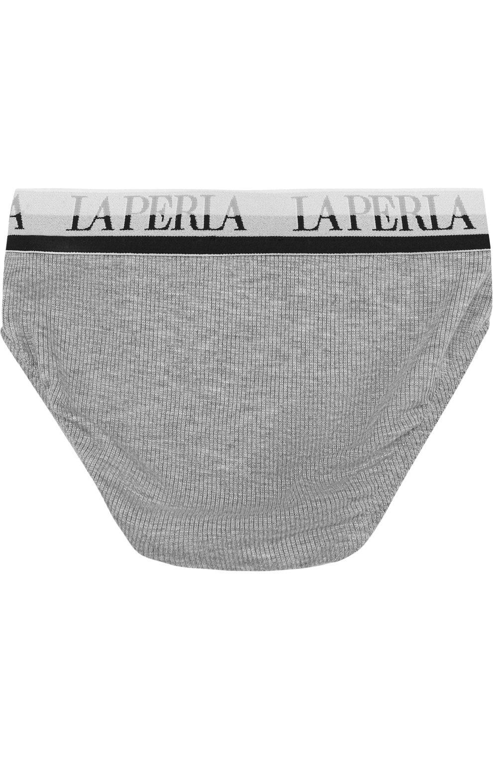 Детские брифы из вискозы с широкой резинкой LA PERLA серого цвета, арт. 54368/2A-6A | Фото 2