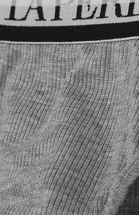 Детские брифы из вискозы с широкой резинкой LA PERLA серого цвета, арт. 54368/2A-6A | Фото 3