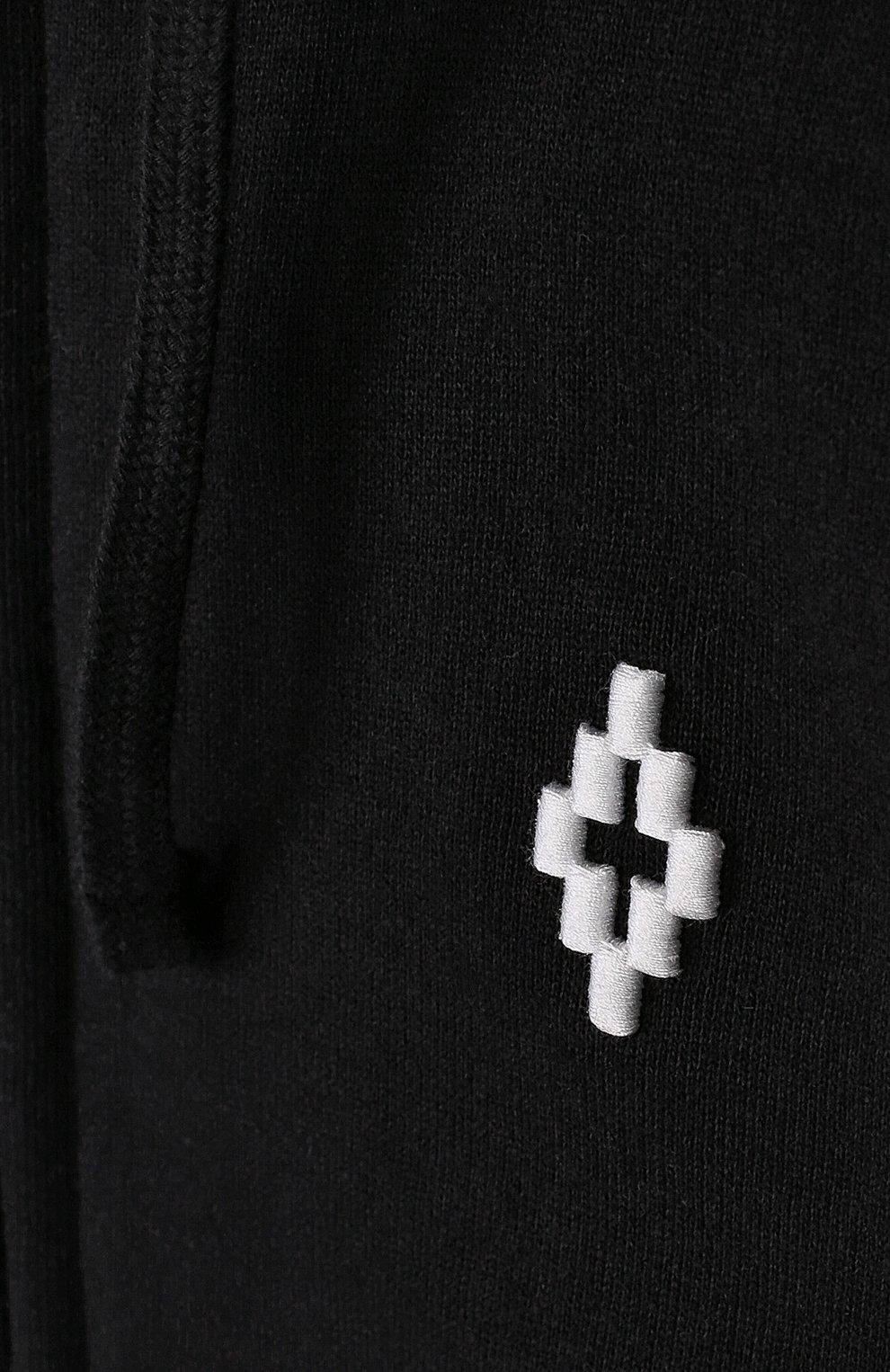 Детский хлопковый кардиган на молнии с капюшоном MARCELO BURLON KIDS OF MILAN черного цвета, арт. B/MB/2202/0020   Фото 3 (Рукава: Длинные; Мальчики Кросс-КТ: Толстовка-спорт; Материал внешний: Хлопок; Ростовка одежда: 6 лет   116 см, 8 лет   128 см)