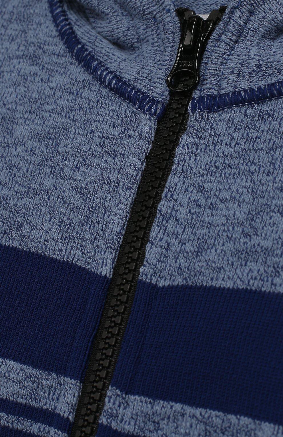 Кардиган джерси на молнии с капюшоном | Фото №3