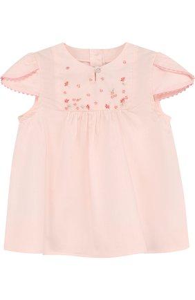 Детский хлопковая блуза с вышивкой TARTINE ET CHOCOLAT розового цвета, арт. TL12051/2A-3A   Фото 1
