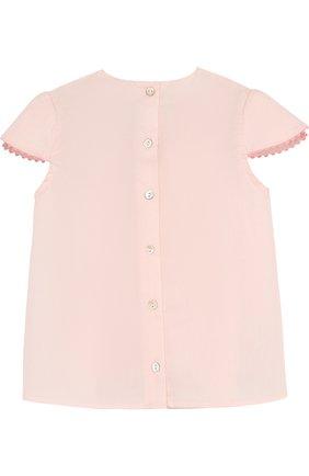 Детский хлопковая блуза с вышивкой TARTINE ET CHOCOLAT розового цвета, арт. TL12051/2A-3A   Фото 2