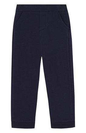 Хлопковые брюки с отворотами и эластичной вставкой на поясе | Фото №1