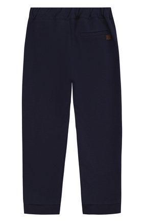 Хлопковые брюки с отворотами и эластичной вставкой на поясе | Фото №2