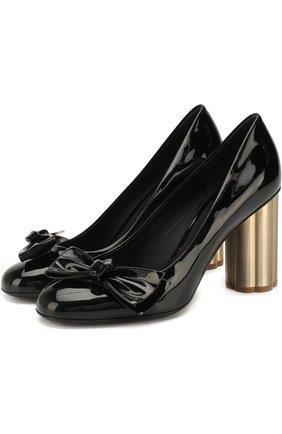 Лаковые туфли Avola на фигурном каблуке | Фото №1