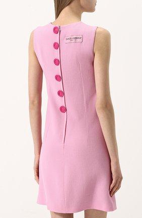 Приталенное однотонное мини-платье без рукавов   Фото №4