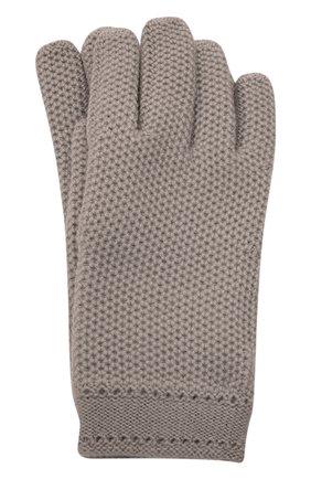 Кашемировые перчатки фактурной вязки | Фото №1