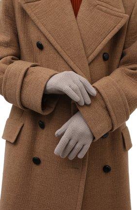Женские кашемировые перчатки LORO PIANA бежевого цвета, арт. FAA1252 | Фото 2 (Статус проверки: Проверено, Проверена категория; Материал: Шерсть, Кашемир)