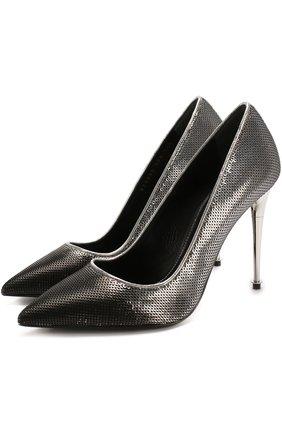 Туфли Metal Heel с вышивкой пайетками на шпильке | Фото №1