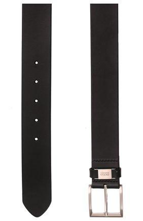 Мужской кожаный ремень BOSS черного цвета, арт. 50224631 | Фото 3