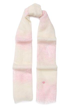 Кашемировый шарф с кружевной отделкой | Фото №1