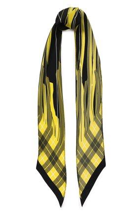 Шелковый шарф-бандо с принтом Rockins желтый | Фото №1