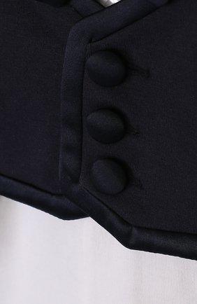 Детский хлопковый комбинезон с декоративным галстуком-бабочкой ALETTA темно-синего цвета, арт. RE88597/1M-18M | Фото 3