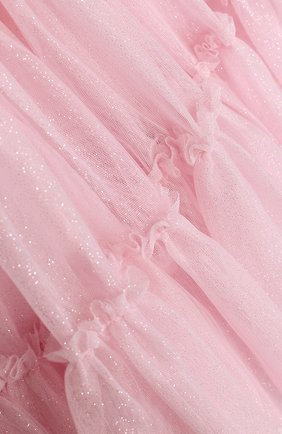 Многослойная юбка с широким поясом и металлизированной отделкой | Фото №3