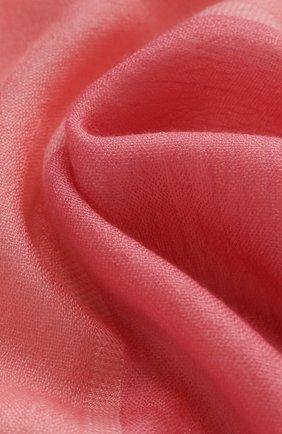 Мужские шарф aylit из смеси кашемира и шелка LORO PIANA розового цвета, арт. FAI1571 | Фото 2