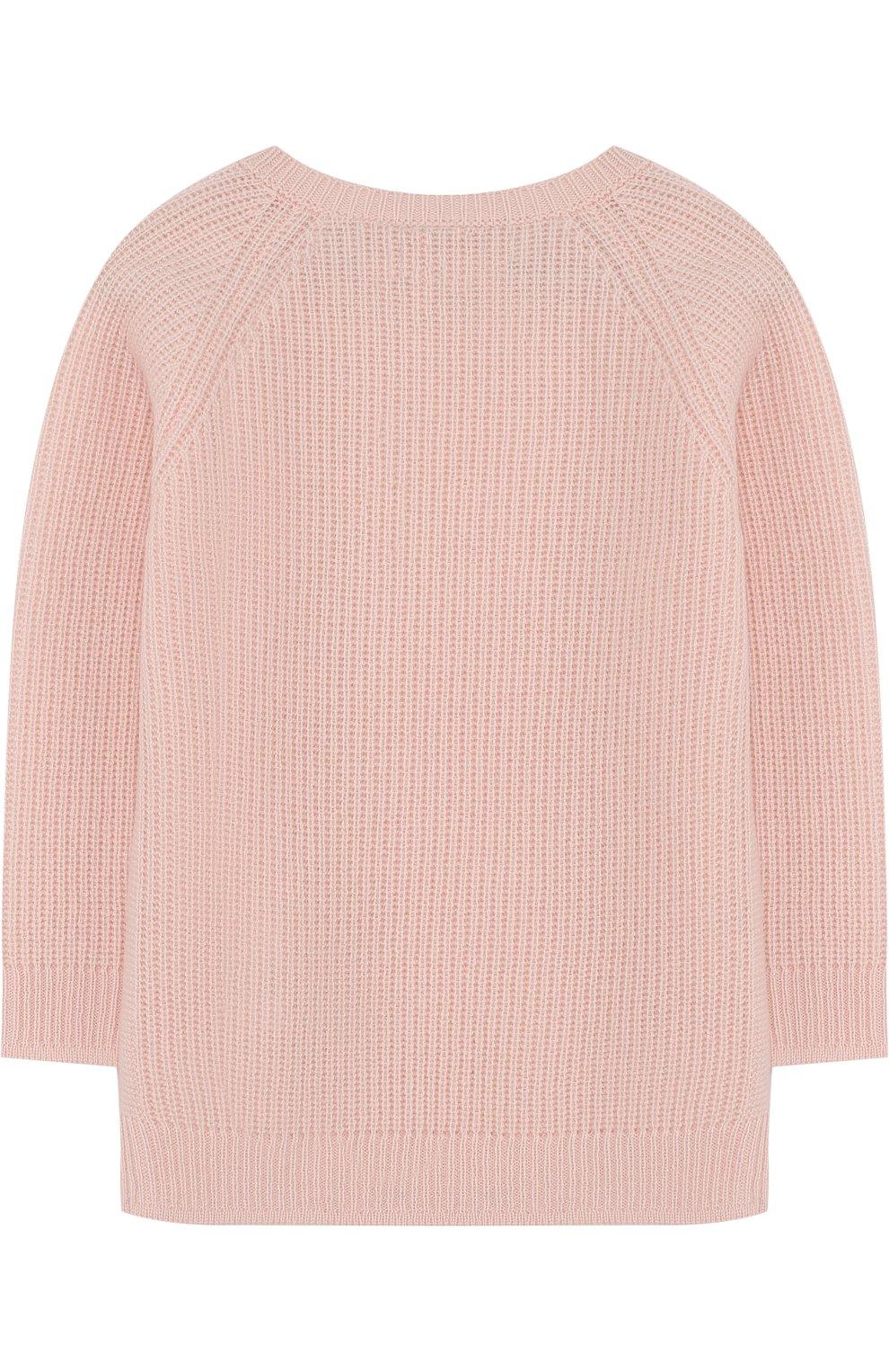 Детский кашемировый пуловер LORO PIANA розового цвета, арт. FAG3984 | Фото 2