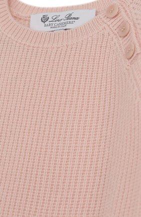 Детский кашемировый пуловер LORO PIANA розового цвета, арт. FAG3984 | Фото 3
