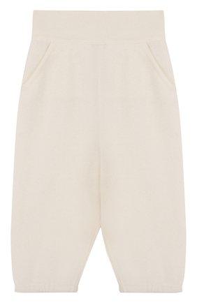 Детские кашемировые брюки LORO PIANA белого цвета, арт. FAI0797 | Фото 1