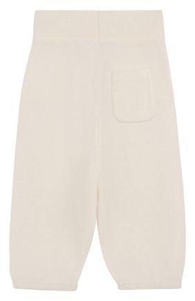 Детские кашемировые брюки LORO PIANA белого цвета, арт. FAI0797 | Фото 2
