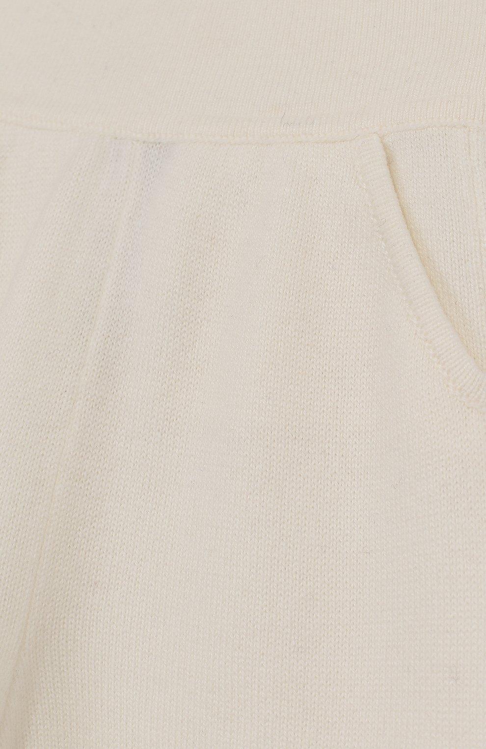 Детские кашемировые брюки LORO PIANA белого цвета, арт. FAI0797 | Фото 3