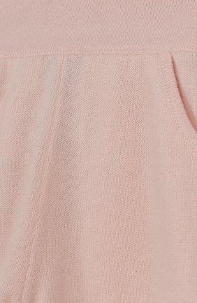 Детские кашемировые брюки LORO PIANA светло-розового цвета, арт. FAI0797 | Фото 3