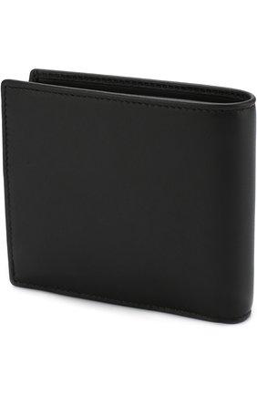 Мужской кожаное портмоне с отделениями для кредитных карт и монет GIORGIO ARMANI черного цвета, арт. Y2R122/YDH6J   Фото 2