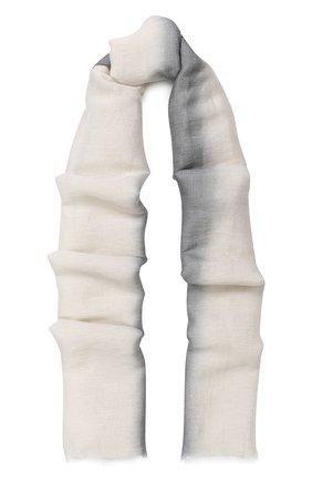 Шаль из смеси шелка и льна с кашемиром и градиентным рисунком   Фото №1