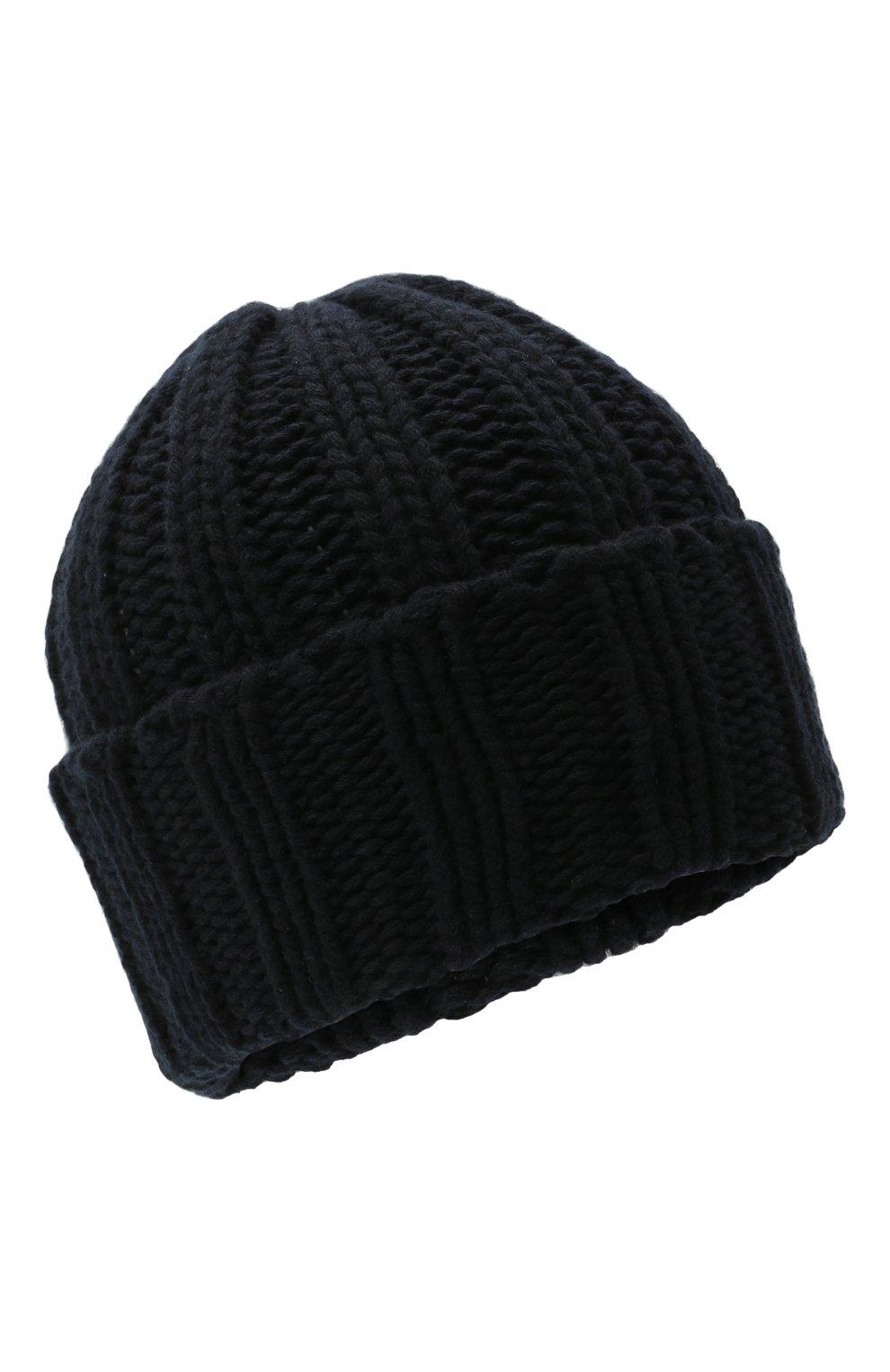 Мужская кашемировая шапка INVERNI темно-синего цвета, арт. 2924CM   Фото 1