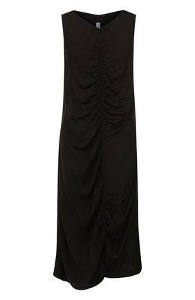 Платье-миди из смеси вискозы и хлопка с драпировкой | Фото №1
